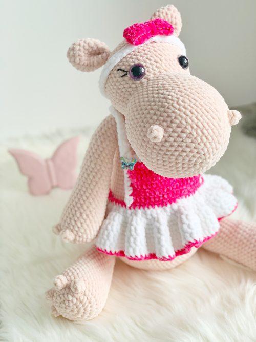 Hipopotam różowy sprzedawany w sklepie www.pieknahistoria.pl