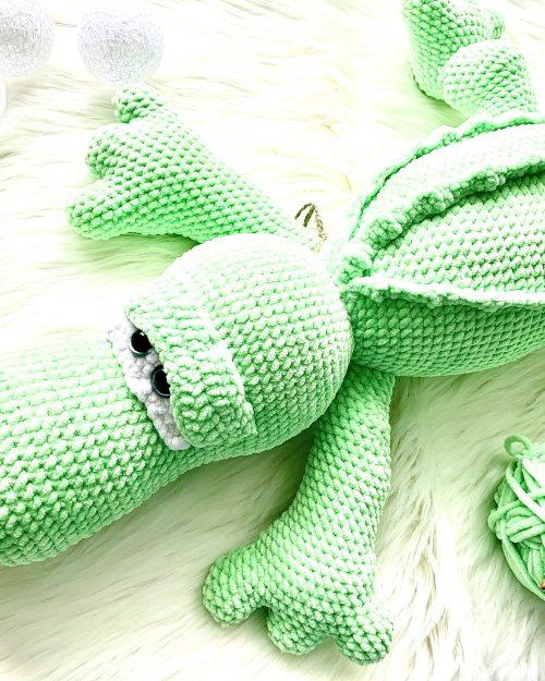 Szydełkowy Krokodyl – 70cm, Handmade (XXL)