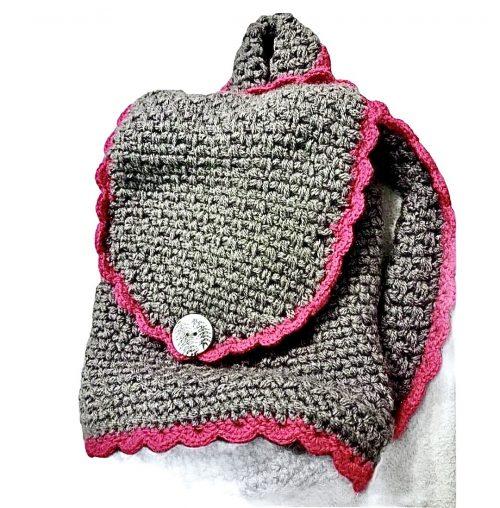 Plecak dla dziecka robiony na szydełku