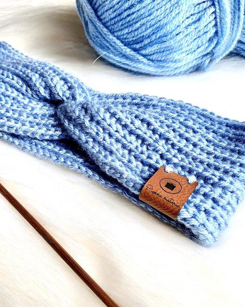 OPASKA Blue – ręcznie pleciona na szydełku